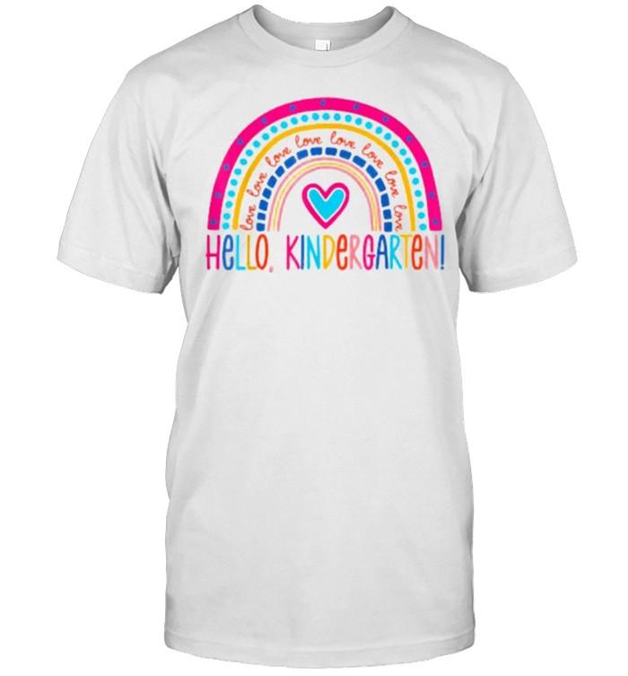 Hello Kindergarten Rainbow for Teachers Student Girls T- Classic Men's T-shirt