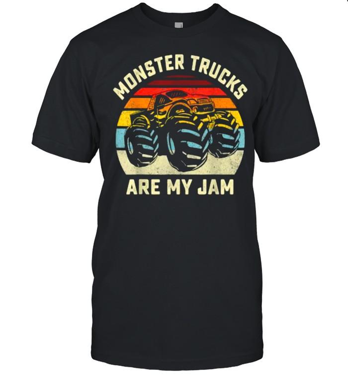 Vintage Monster Truck Retro Style Monster Trucks Are My Jam T- Classic Men's T-shirt