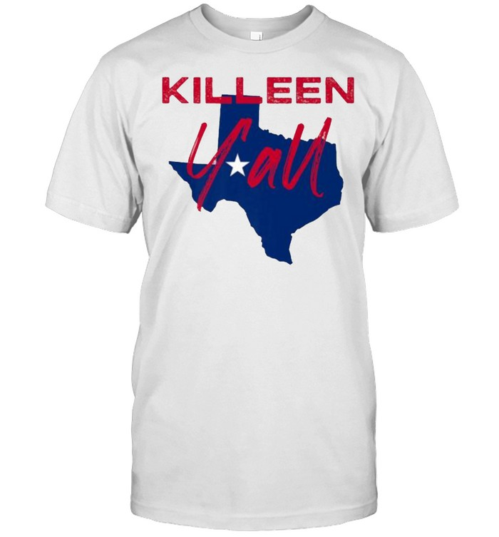 Killeen Texas Y'all TX Pride State Map T- Classic Men's T-shirt