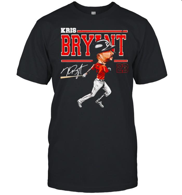 San Francisco Baseball Kris Bryant cartoon signature shirt Classic Men's T-shirt