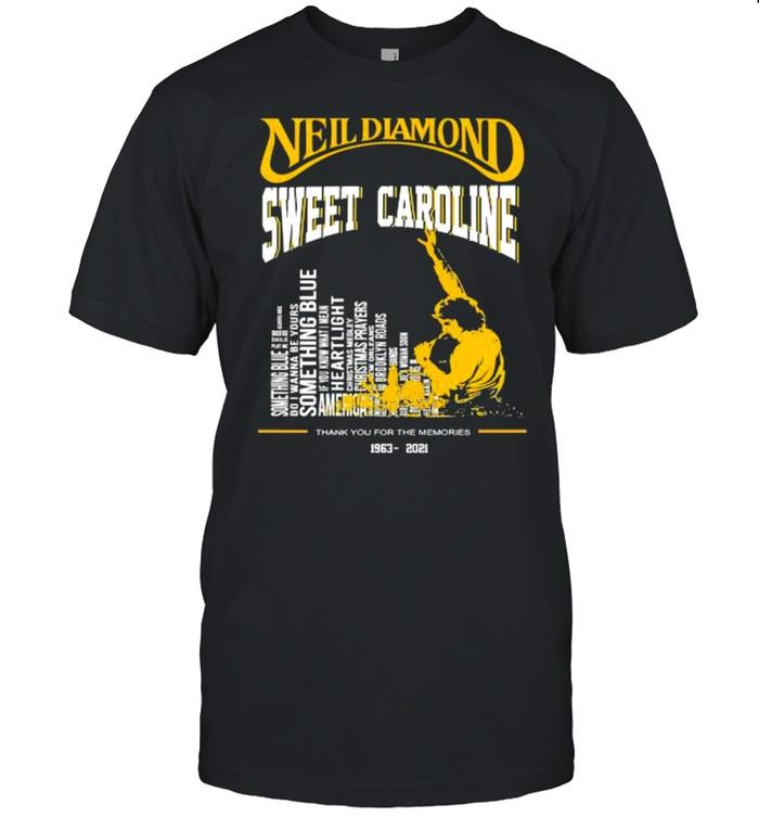 Neil diamond sweet caroline thank you for the memories 1962 2021 shirt Classic Men's T-shirt
