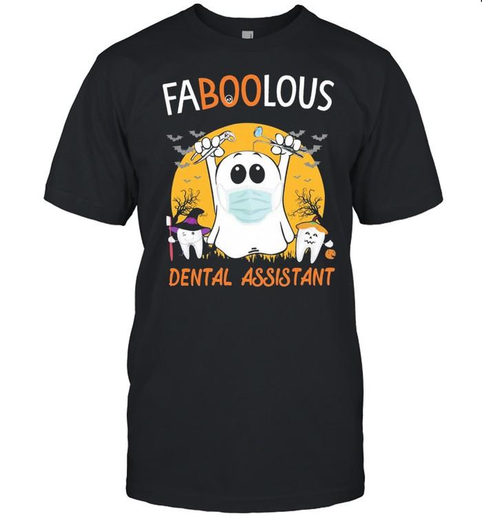 Ghost face mask Faboolous Dental Assistant Halloween shirt Classic Men's T-shirt