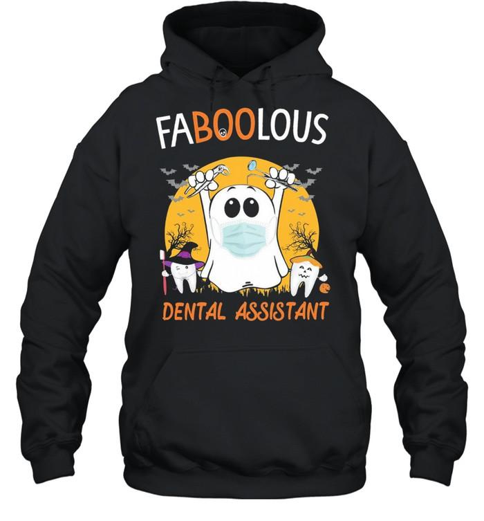 Ghost face mask Faboolous Dental Assistant Halloween shirt Unisex Hoodie
