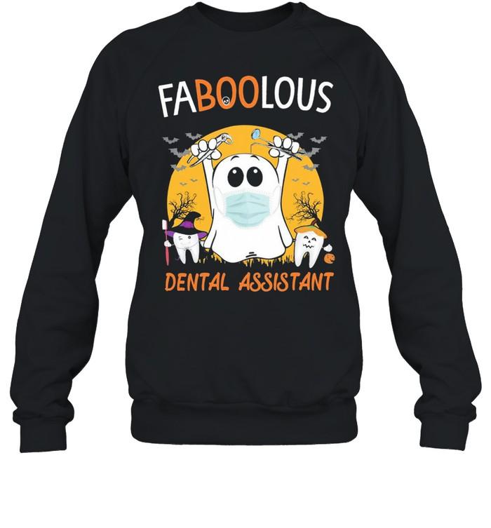 Ghost face mask Faboolous Dental Assistant Halloween shirt Unisex Sweatshirt
