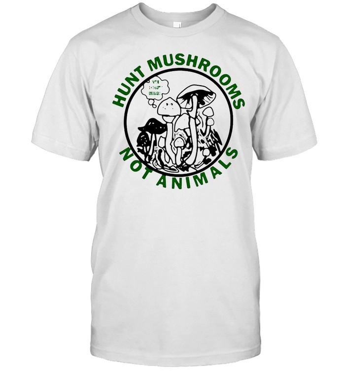 Hunt Mushrooms Not Animals T-shirt Classic Men's T-shirt