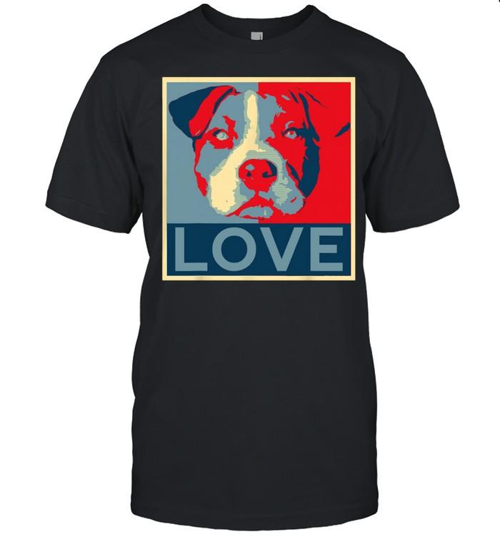 Love Pitbull face shirt Classic Men's T-shirt