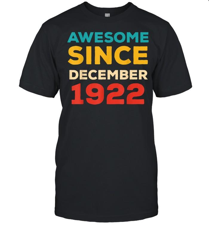 Awesome Since 1922 99th Birthday Retro shirt Classic Men's T-shirt