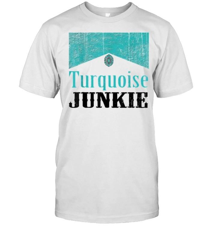 Turquoise Junkie Turquoise Gemstone T- Classic Men's T-shirt