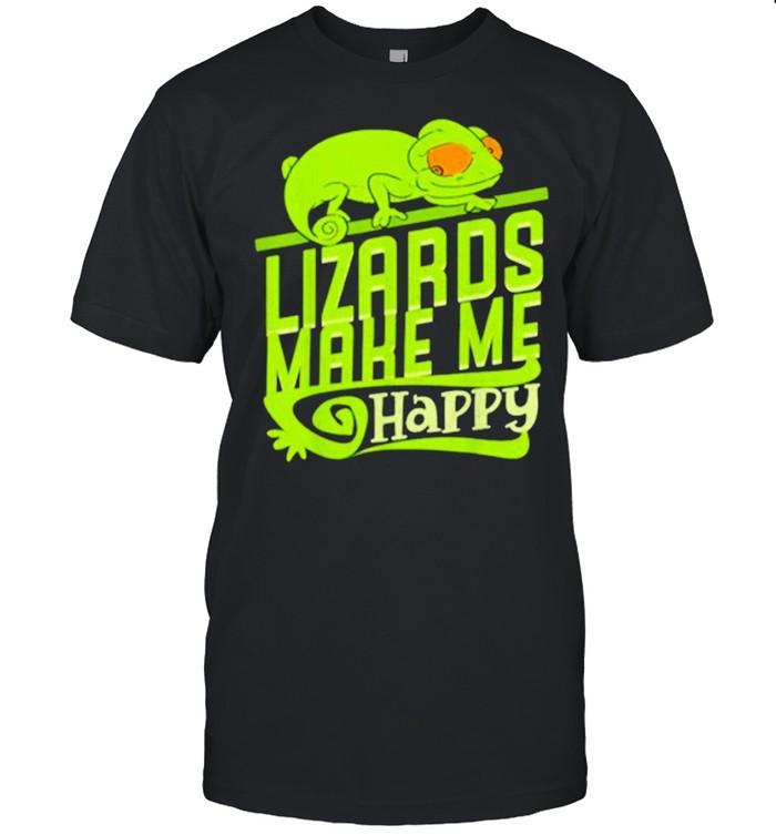 Geckos lizards make me happy shirt Classic Men's T-shirt