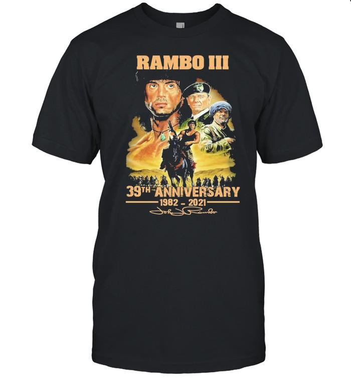 rambo iii 30th anniversary 1982 2921 shirt Classic Men's T-shirt