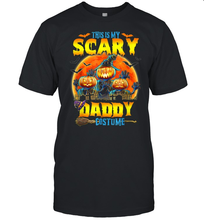 This Is My Scary Daddy Costume Jack O Lantern Halloween shirt Classic Men's T-shirt