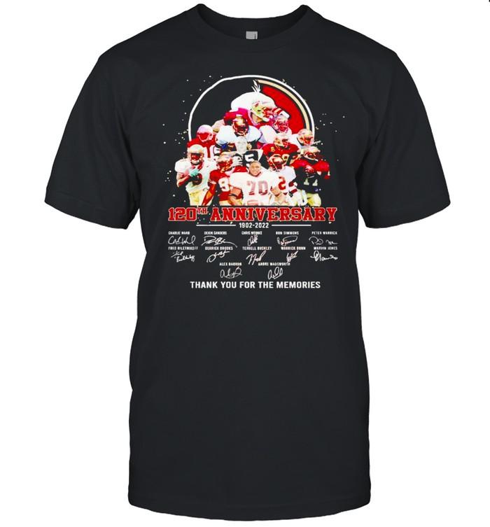 Florida State Seminoles 120th Anniversary 1902 2022 thank you for the memories shirt Classic Men's T-shirt