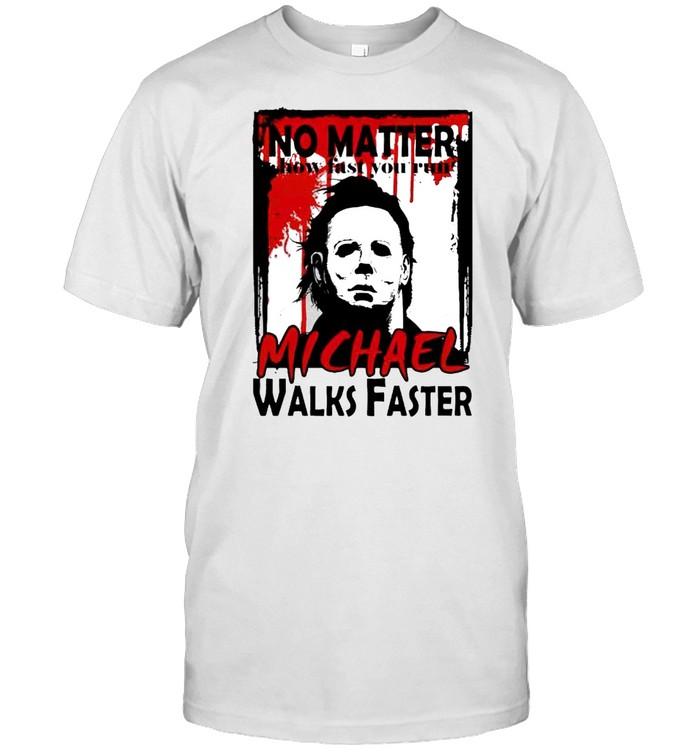 No matter how fast you run Michael walks faster shirt Classic Men's T-shirt
