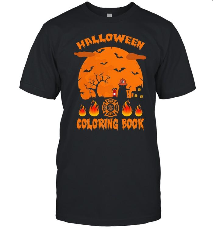 Halloween Coloring Book Firefighter Halloween shirt Classic Men's T-shirt