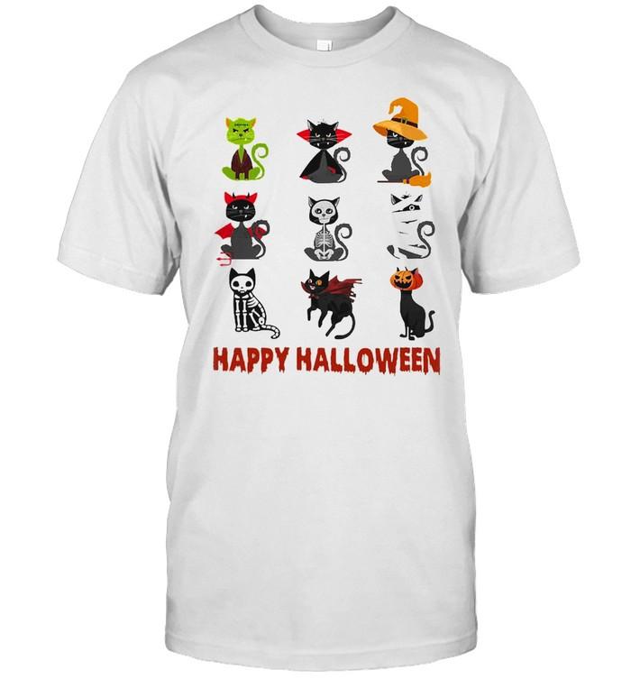 Cat Cartoon Happy Halloween shirt Classic Men's T-shirt