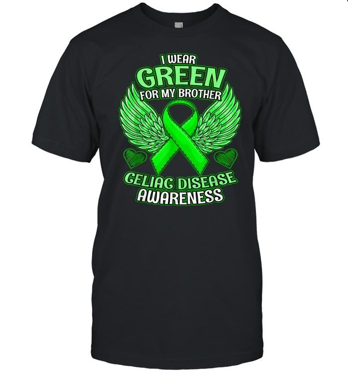 Celiac Disease Awareness Brother Support Ribbon shirt Classic Men's T-shirt