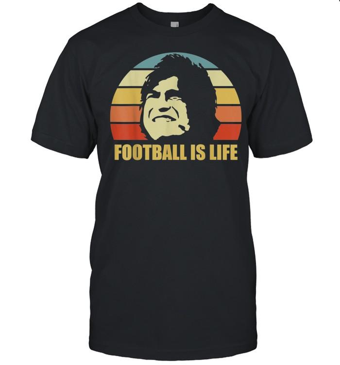 Football Is Life Football and Soccer Vintage Retro shirt Classic Men's T-shirt