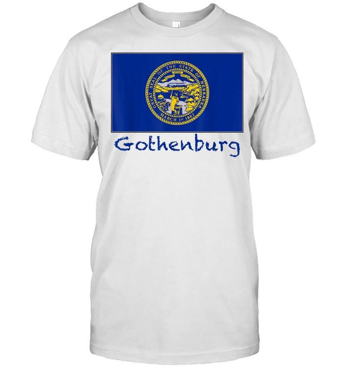 Gothenburg Nebraska USA Flag Souvenir shirt Classic Men's T-shirt