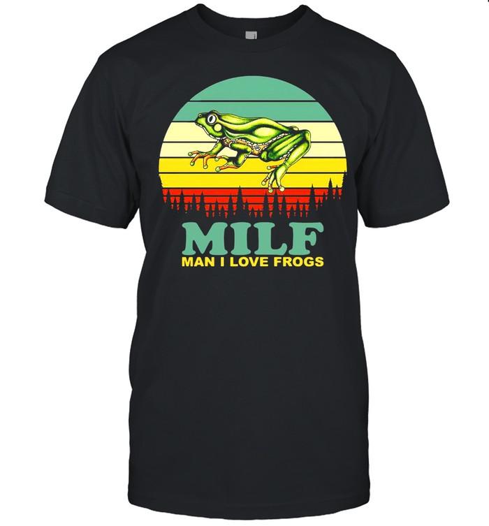 Milf Man I Love Frogs Vintage Retro T-shirt Classic Men's T-shirt