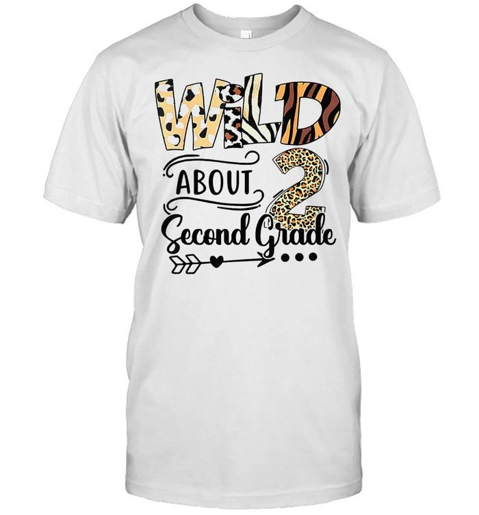 Wild about 2nd Second Grade Lepoard shirt Classic Men's T-shirt
