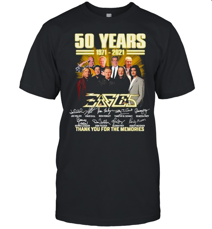 Eagles 50 years 1971 2021 thank you for the memories signatures shirt Classic Men's T-shirt