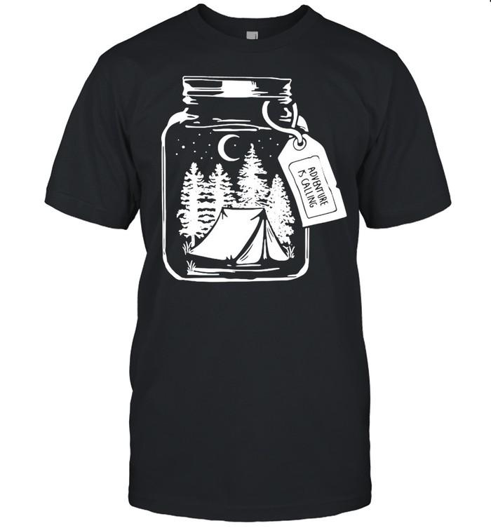 Pine Tree I Jar Forest I Adventure Is Calling T-shirt Classic Men's T-shirt