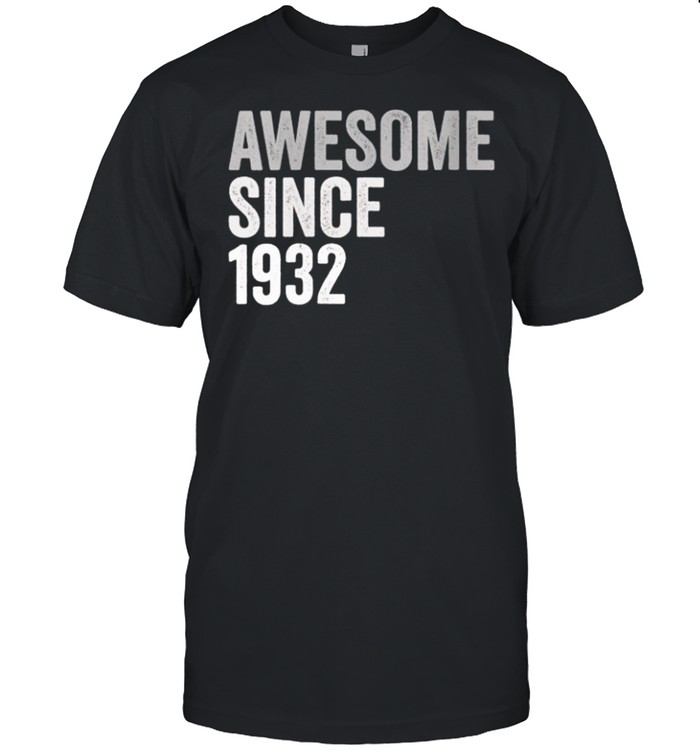 Awesome SInce 1932 89 Years Old 89th Birthday Legend shirt Classic Men's T-shirt