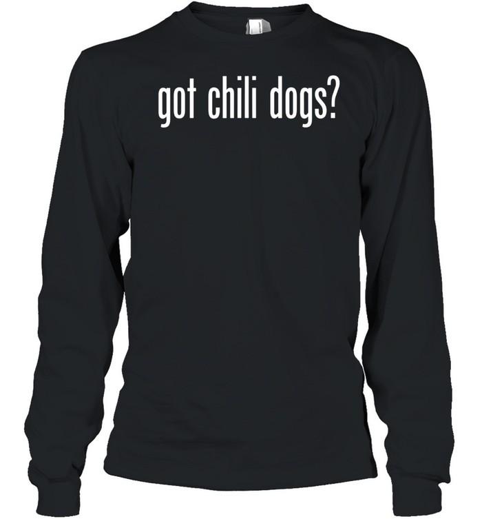 Got Chili Dogs Retro Advert Ad Parody shirt Long Sleeved T-shirt