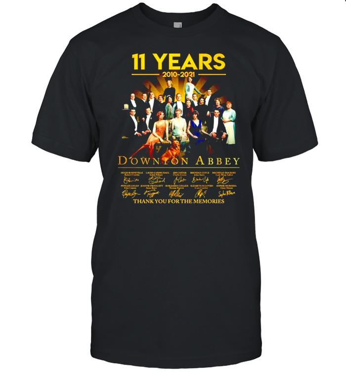 11 years 2010-2021 Downton Abbey signatures shirt Classic Men's T-shirt