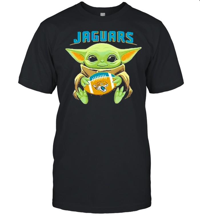 Jacksonville american football team face cover baby yoda shirt Classic Men's T-shirt