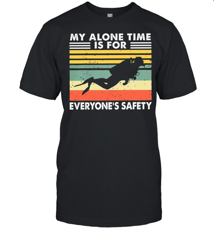 My alone time is for everyones safety vintage shirt Classic Men's T-shirt
