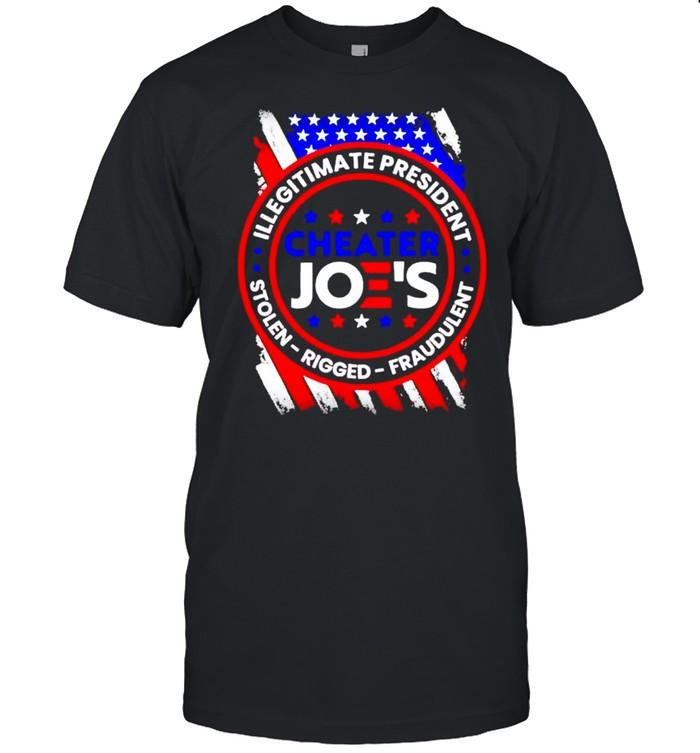 Cheater Joe's illegitimate president stolen rigged fraudulent shirt Classic Men's T-shirt
