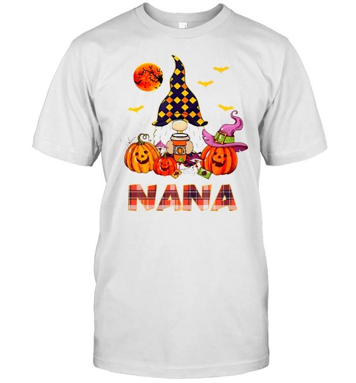 Nana Gnome And Pumpkin Happy Halloween shirt Classic Men's T-shirt