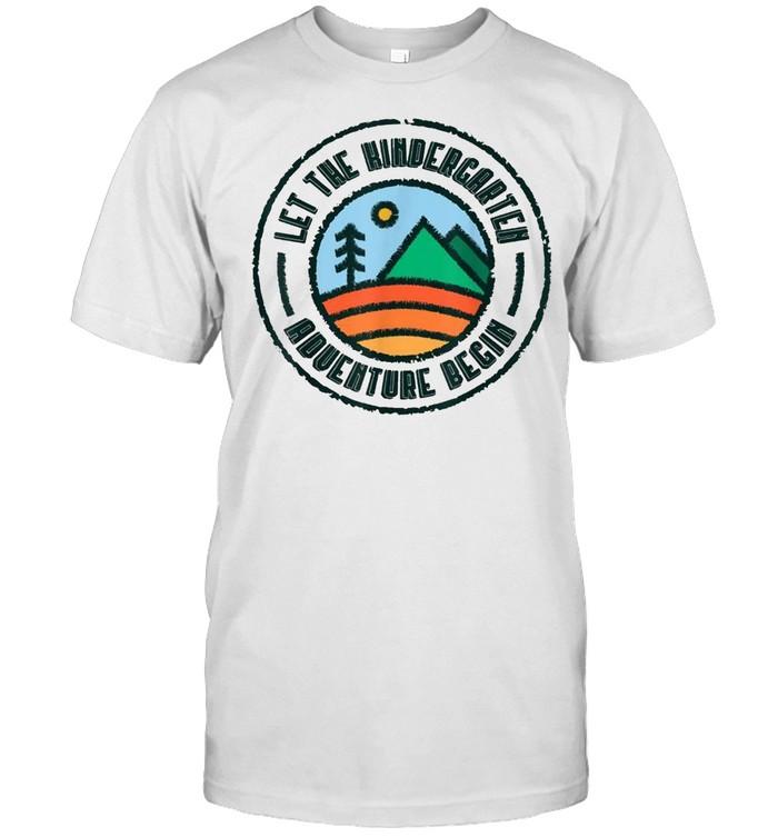 Let the Kindergarten Adventure Begin Kinder Team Teacher shirt Classic Men's T-shirt