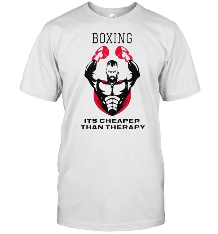 Boxing it's cheaper than therapy shirt Classic Men's T-shirt
