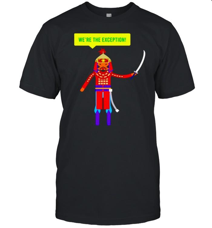 Crash Course Mongols we're the exception shirt Classic Men's T-shirt