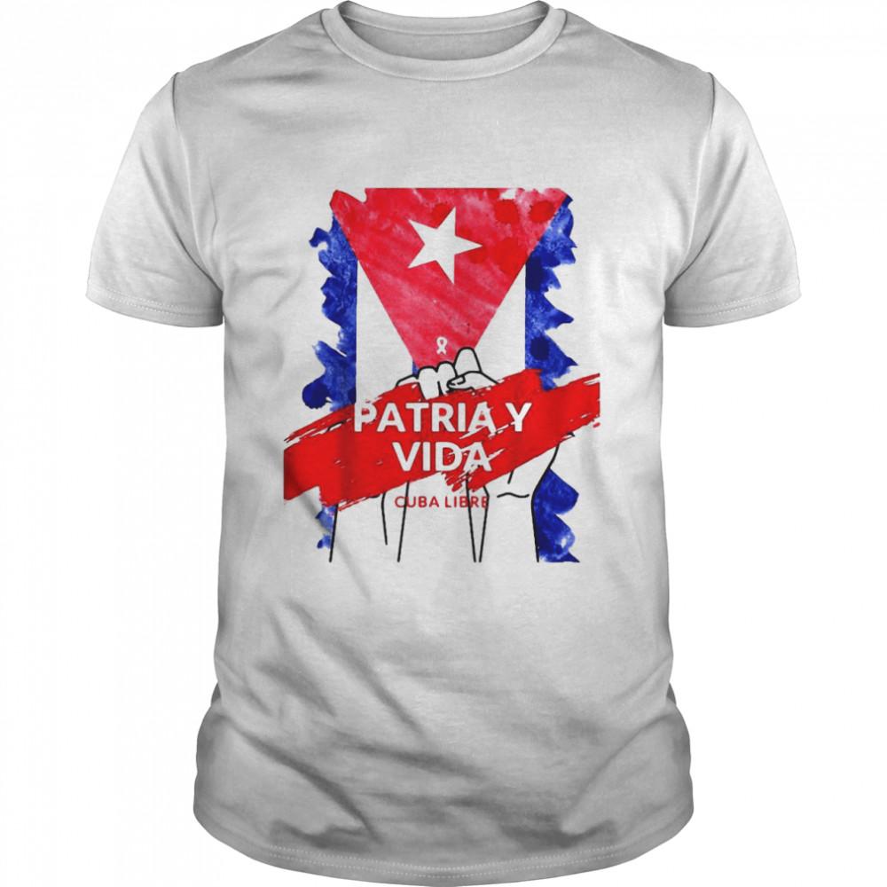 Patria y Vida Cuba Libre Freedom Tee T-shirt Classic Men's T-shirt