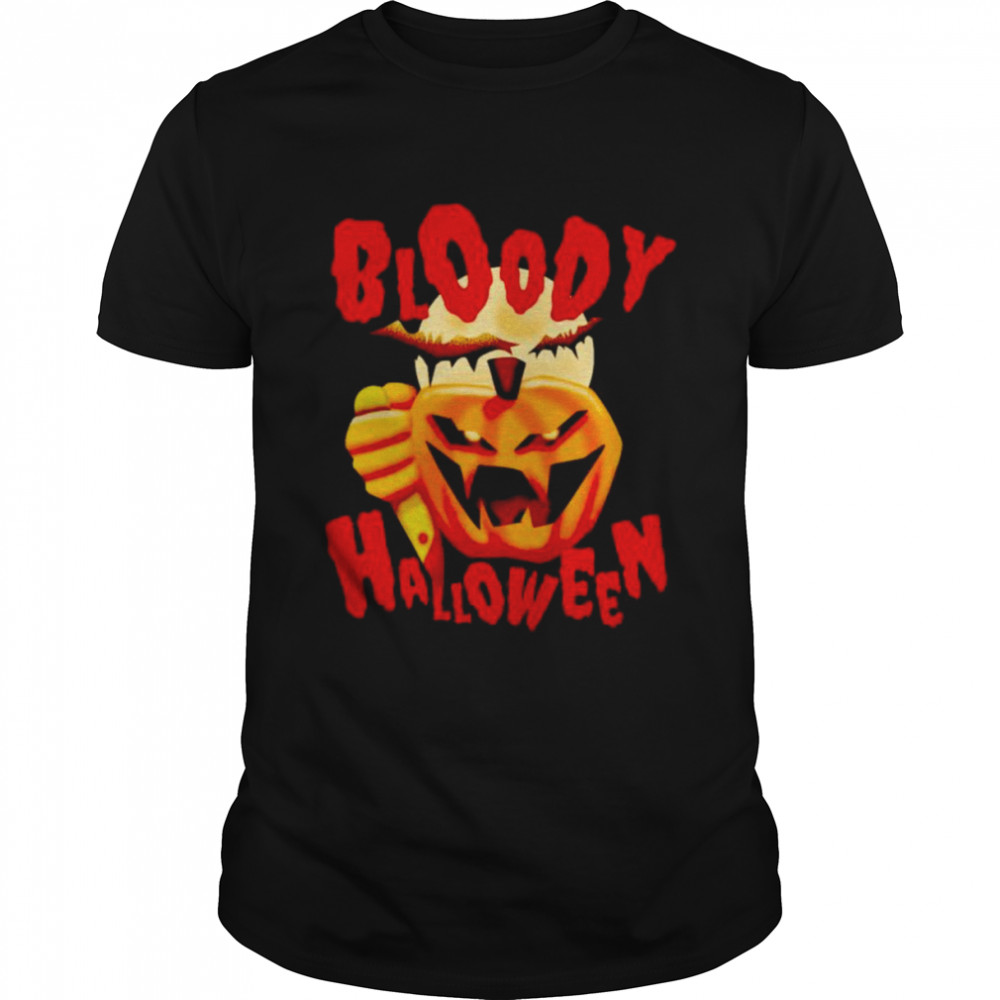 Pumpkin bloody Halloween shirt Classic Men's T-shirt