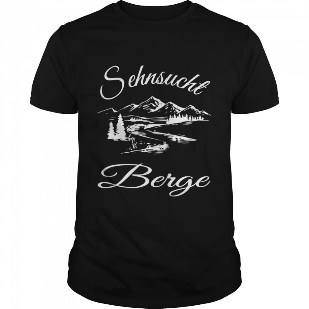 with Behnsucht Berge Design shirt Classic Men's T-shirt
