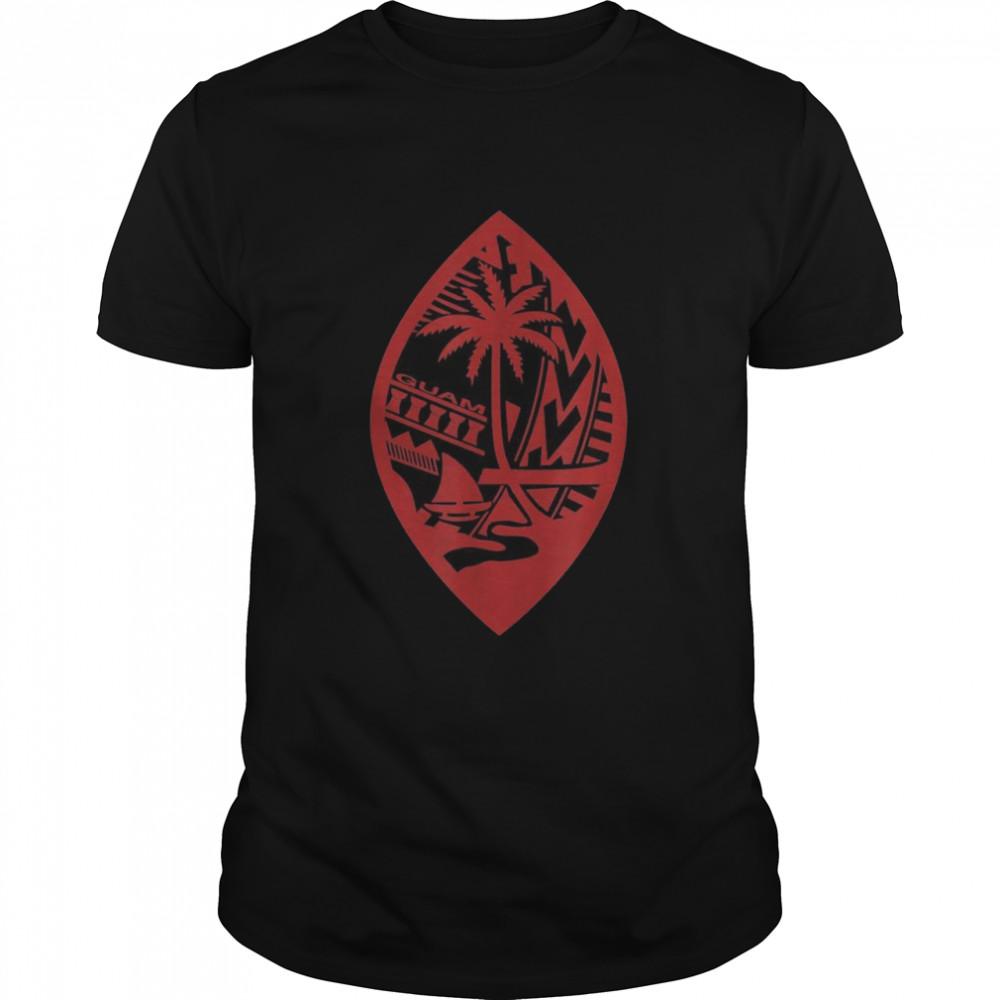 Mens Guam Seal Latte Stone shirt Classic Men's T-shirt