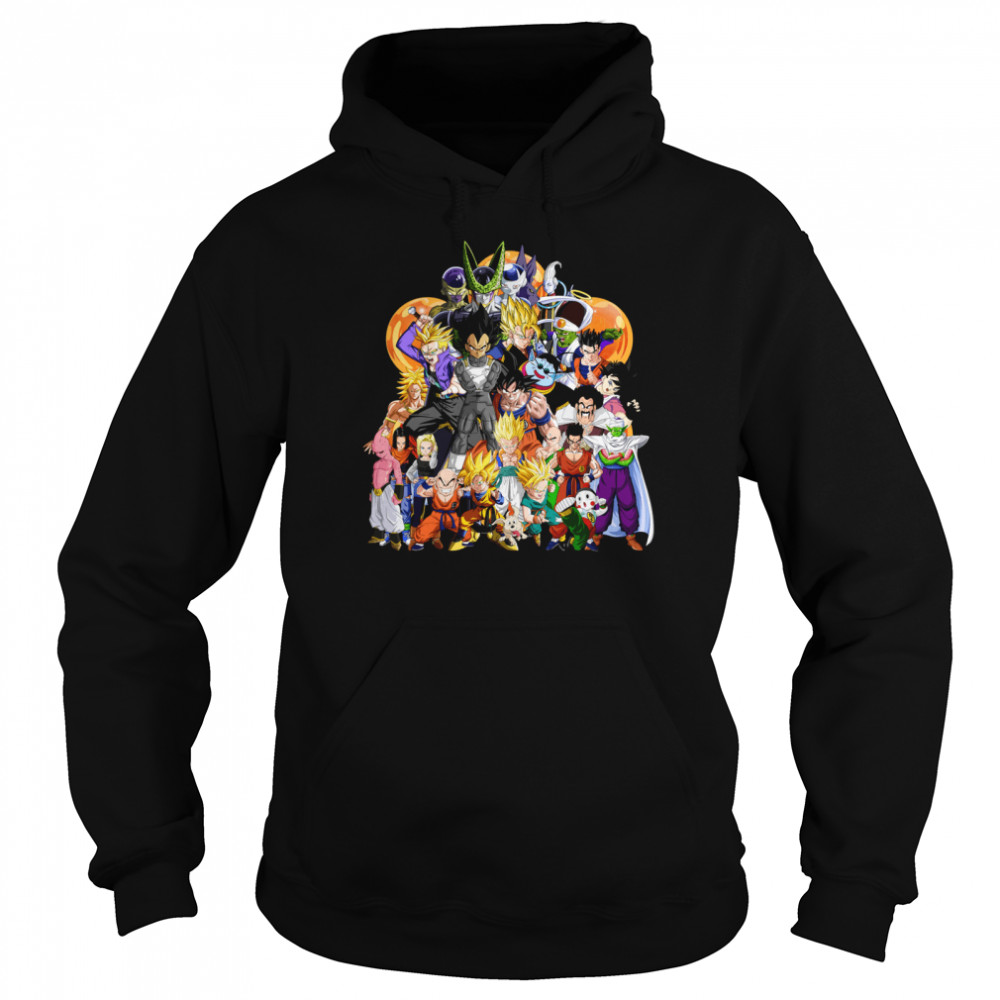 Dragon Ball Z Another Character Collage shirt Unisex Hoodie