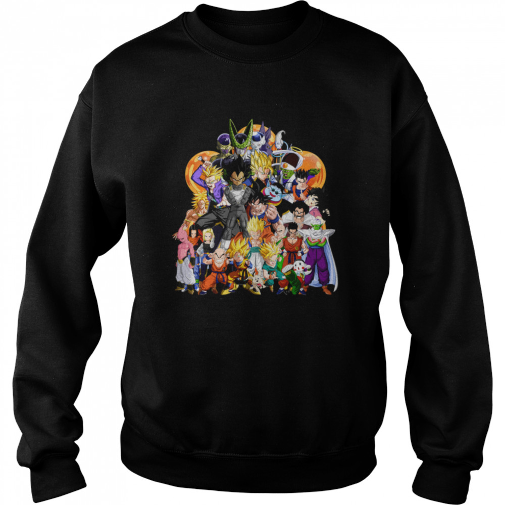 Dragon Ball Z Another Character Collage shirt Unisex Sweatshirt
