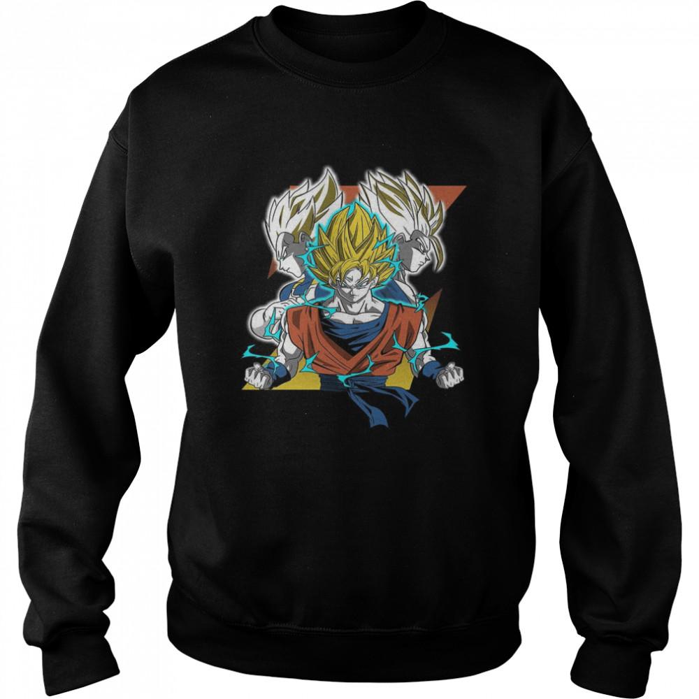 Saiyan Trio shirt Unisex Sweatshirt