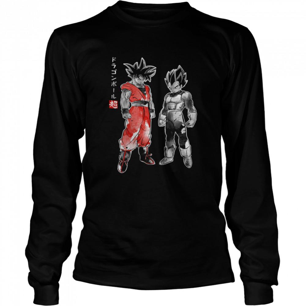 Saiyan Warriors sumi e shirt Long Sleeved T-shirt