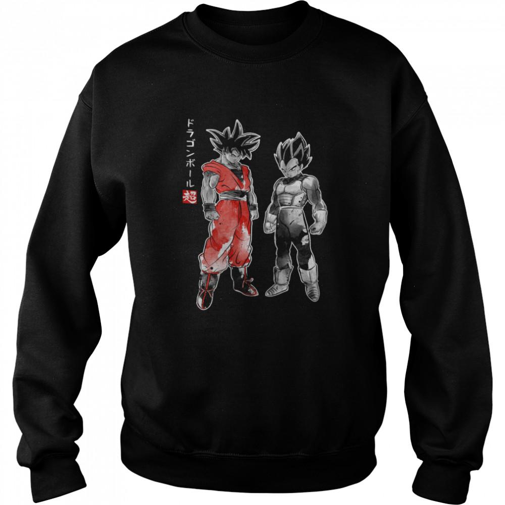Saiyan Warriors sumi e shirt Unisex Sweatshirt