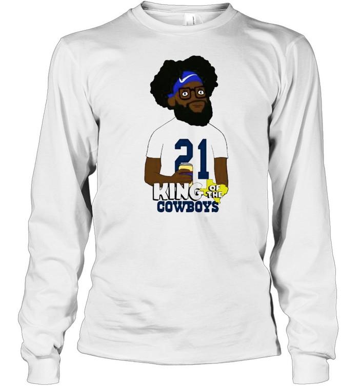Ezekiel Elliott king of the Cowboys shirt Long Sleeved T-shirt