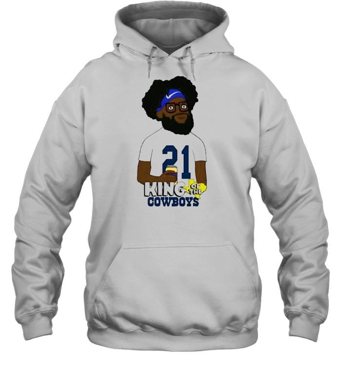 Ezekiel Elliott king of the Cowboys shirt Unisex Hoodie