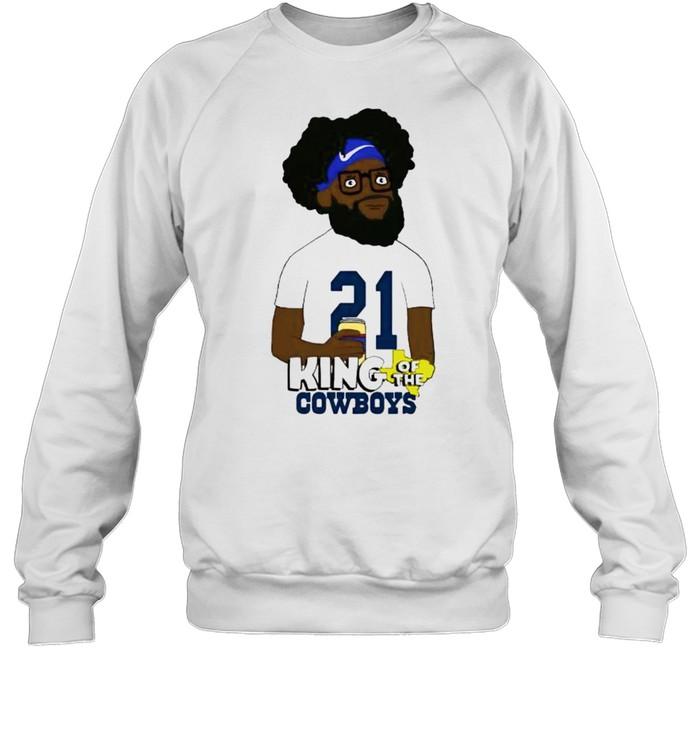 Ezekiel Elliott king of the Cowboys shirt Unisex Sweatshirt