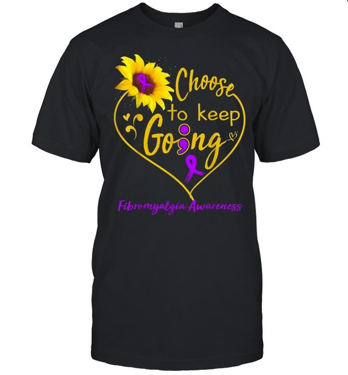 Fibromyalgia Awareness Choose To Keep Going shirt Classic Men's T-shirt
