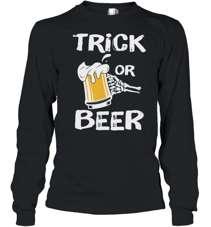 Halloween Beer Trick or Treat shirt Long Sleeved T-shirt